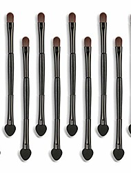 cheap -10pcs cosmetic double head makeup brush blusher eye shadow brushes