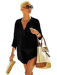 cheap -womens summer sexy swimsuit bikini cover up sun protective beach dress l black