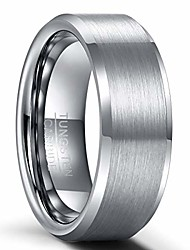 cheap -mens wedding ring band tungsten carbide ring for men women rose gold/grey/black matte brushed engagement band 6mm 8mm comfort fit engraved'i love you'