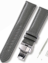 cheap -Genuine Leather / Leather / Calf Hair Watch Band Grey 17cm / 6.69 Inches / 18cm / 7 Inches / 19cm / 7.48 Inches 1cm / 0.39 Inches / 1.2cm / 0.47 Inches / 1.3cm / 0.5 Inches