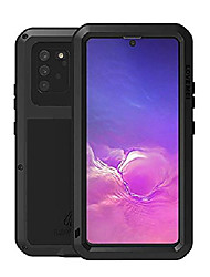 cheap -metal case for samsung galaxy s10 lite 2020,heavy duty military bumper robust dustproof shockproof anti-drop aluminum metal full body protection case with tempered glass (s10 lite, black)
