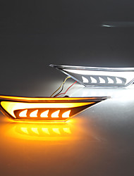 cheap -2Pcs Led Side Indicator Lights Turn Signal Light Fender Cover Daytime Running Leaf Lamp For Honda Civic 2016 2017 2018 2019 2020 White Yellow Light