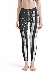 cheap -women's 4 way stretch tummy control yoga leggings american flag-mirror super soft skinny pants in many styles white xs