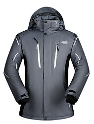 cheap -MUTUSNOW Men's Ski Jacket Skiing Snowboarding Winter Sports Waterproof Windproof Warm Polyester Jacket Ski Wear / Solid Colored