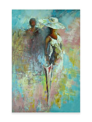 cheap -Portrait Oil Painting On Canvas Abstract Contemporary Art Wall Paintings Handmade Painting Home Office Decorations Canvas Wall Art Painting Rolled Canvas No Frame