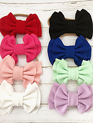 cheap -1pcs Infant Girls' Sweet Solid Colored Bow Hair Accessories White / Black / Blue