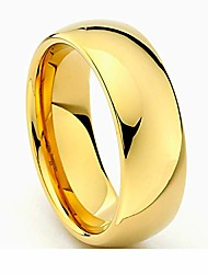 cheap -8mm gold tone men's tungsten wedding band - size 11