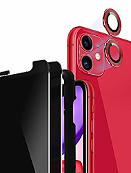 """cheap -iphone 11 privacy screen protector (6.1"""") 2 pack + camera lens protector [set of 2] for iphone 11 tempered glass privacy [case friendly] + [easy install tray] 9h hardness/anti-spy/anti-scratch - red"""