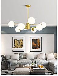 cheap -6/8/12/16 Heads LED Chandelier Pendant Light Gold Glass Globle Design Sputnik Design Metal Painted Finishes 110-120V 220-240V