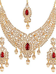 cheap -new indian bollywood desire legendary style old diamond look faux blue sapphire grand designer bridal jewelry necklace set in antique gold tone for women