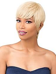 Недорогие -это парик! - это шапочное плетение! Полный парик из 100% натуральных волос - hh mon ami (1 - угольно-черный)