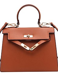 cheap -Women's Bags Satchel Crossbody Bag Top Handle Bag Date Office & Career 2021 Handbags MessengerBag Wine Black Red Orange