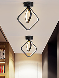 cheap -LED Ceiling Light Porch Light Aisle Light Corridor Lamp Round Square Black White Modern Simple Acrylic Aluminum
