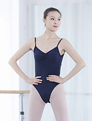 cheap -Ballet Leotard / Onesie Solid Women's Training Performance Sleeveless Elastane