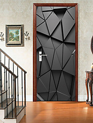 cheap -Black Three-dimensional Art Self-adhesive Creative Door Stickers Living Room DIY Decorative Home Waterproof Wall Stickers