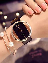 cheap -Women's Quartz Watches Quartz Novelty Stylish Casual Creative Analog White Black Orange / PU Leather