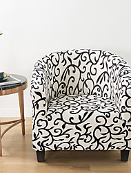cheap -Stretch Club Chair Cover Slipcover Armchair Barrel Tub Chair Botanical Plants Soft Durable Washable
