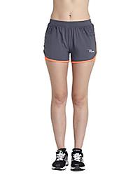 cheap -women's 2-in-1 running shorts elasticity lightweight sweatpants (s, grey)