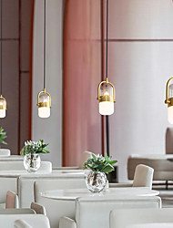 cheap -12 cm Single Design Pendant Light Nordic Gold Bedside Dining Room Bar Kitchen Reataurant Christmas Decoration Metal Electroplated 110-120V 220-240V