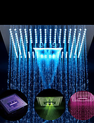 cheap -16 Inch Thermostatic Rain Shower Complete with Stainless Steel - Eco-friendly / 64-Color LED / Shower Ceiling Mounted Rainfall+Jet / Massage Shower Head System