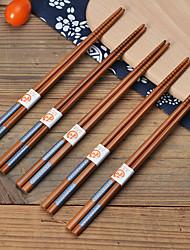 cheap -5/10 Pairs Bamboo Chopsticks Reusable Japanese Style Chopstick Gift Sets Classic Natural Bamboo Chop Sticks Dishwasher Safe 8.8 Inch/22.5cm