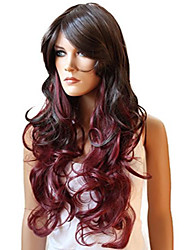 cheap -prettyshop unisex full wig long hair cosplay halloween heat-resistant brown wl100