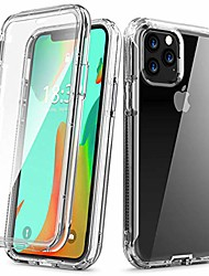 cheap -iphone 11 pro max case, [built in screen protector] slim anti-scratch full-body shockproof dual layer protective transparency soft tpu case for iphone 11 pro max 6.5 inch (2019 release),clear