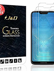 cheap -j&d compatible for motorola g7 power/g7 supra glass screen protector (3-pack), not full coverage hd clear ballistic tempered glass screen protector for moto g7 power (not for moto g7/g7 plus/g7