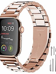 cheap -compatible apple watch band 42mm 44mm 38mm 40mm, stainless steel metal for apple watch bands, 42mm 44mm rose gold