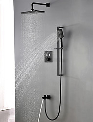 cheap -Shower System / Rainfall Shower Head System Set - Handshower Included Rainfall Shower Contemporary Concealed Ceramic Valve Bath Shower Mixer Taps