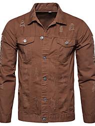 cheap -men's motorcycle vintage ripped denim trucker jean jacket 5color 2018022101-g-m