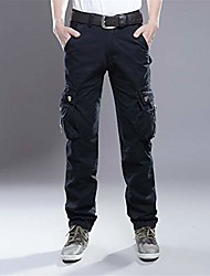 cheap -summer cargo pants men military straight fit baggy cargo long trousers side many pocket jogger black 34