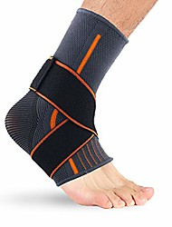 cheap -1pc ankle compression sleeve with adjustable strap, ankle support brace for sprained ankle, running s