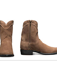 cheap -Men's Boots Cowboy Western Boots Work Boots Casual Daily PU Almond Coffee Fall Winter