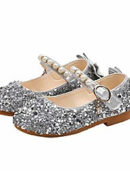 cheap -mary jane party children kids girls cute crystal bowknot pearl princess dance single casual shoe silver