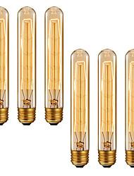 cheap -6pcs 4pcs Dimmable Retro Edison Light Bulb E27 220V 40W T185 Filament Incandescent Ampoule Bulbs Vintage Edison Lamp