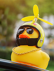 cheap -Car Duck with Helmet Broken Wind Small Yellow Duck Road Bike Motor Helmet Riding Cycling Accessories Without Lights