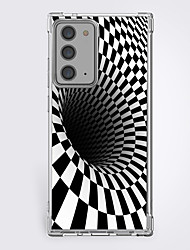 cheap -3D Optical Illusion Graphic Phone Case For Samsung S20 Plus S20 Ultra S20 Unique Design Protective Case Shockproof Clear Back Cover TPU
