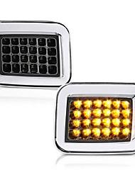 cheap -front turn signal & cornering light assembly for 2003-2009 hummer h2, metallic chrome housing, smoke lens, driver and passenger side