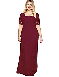 cheap -womens lace party dress super ,wine red 7,4x