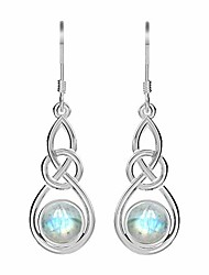 cheap -925 sterling silver celtic knot dangle earrings with geniune natural lapis