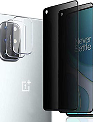 cheap -[3 pack] camera lens protector and [2 pack] privacy screen protector for oneplus 8t / 8t 5g (2020), [full coverage] [super clear] anti-spy 9h hardness tempered glass