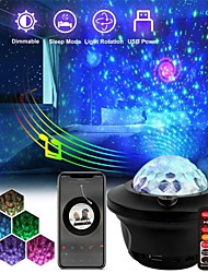 cheap -Christmas Starry Sky Projector Lights 4 Colors Light  Projection Lamp With Music Bluetooth Remote Control Decorative Night Lamp Romantic Projection Lamp Birthday Gift Xmas Decor