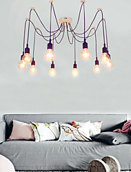 cheap -10-Light 150cm(59 inch) Mini Style Chandelier Metal Others Modern Contemporary 110-120V 220-240V