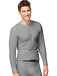 cheap -x-temp men's organic cotton thermal crew 3x-4x_heather grey_3xl