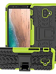 cheap -galaxy j4 plus case,galaxy j6 plus case, with kickstand hard pc back cover soft tpu dual layer protection phone case cover for samsung galaxy j4 prime/j4 core/j6 prime(black kickstand case)