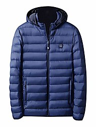 cheap -heat coat battery pack heated jackets winter snow skiing jacket water resistant heat warm coat windproof lightweight with hood blue
