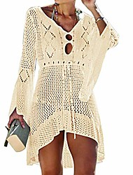 cheap -women's swimsuit cover ups crochet lace bikini bathing suit beachwear swimwear hollow out dress beach cover up