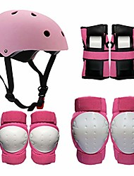 cheap -adult kids helmet pad set elbow knee wrist pads for sports protective gear set adjustable with strap bike cycling skating roller scooter outdoor sports s