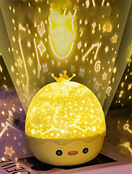 cheap -Crown Duck Sky Projector USB Rechargeable 3-in-1 Night Light Starry Music Cartoons Projection Nightscape Bedside Lamp Flashing Star for Bedroom Lighting Kids Christmas Gift